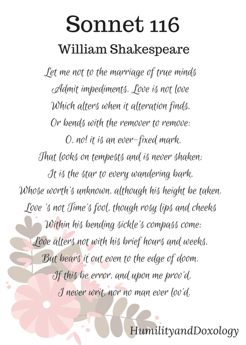 Sonnet 116, Shakespeare, National Poetry Month