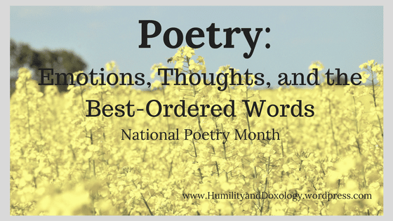 National Poetry Month, Poems, Words, Emotions, Thoughts