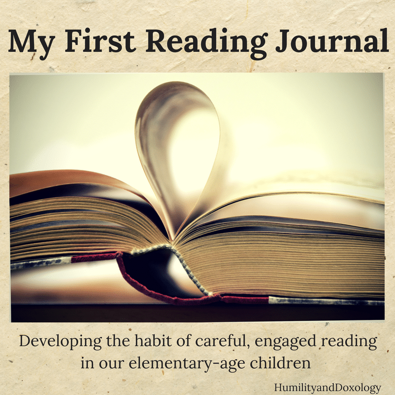 My First Reading Journal Elementary children free printables