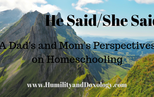 Dad and Mom homeschooling