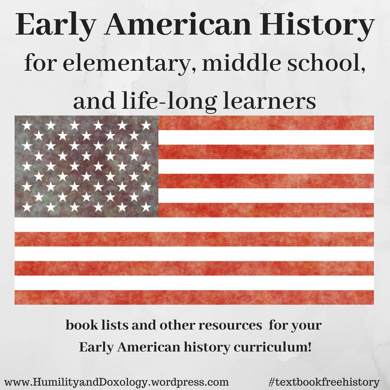elementary, middle school, homeschool american history free curriculum and book list