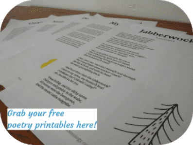 free poetry printable
