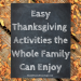 Easy Thanksgiving Projects