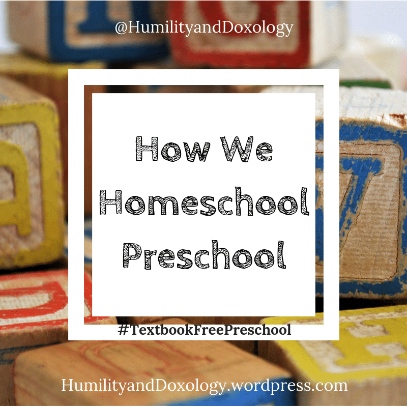 Textbook Free Preschool Homeschool