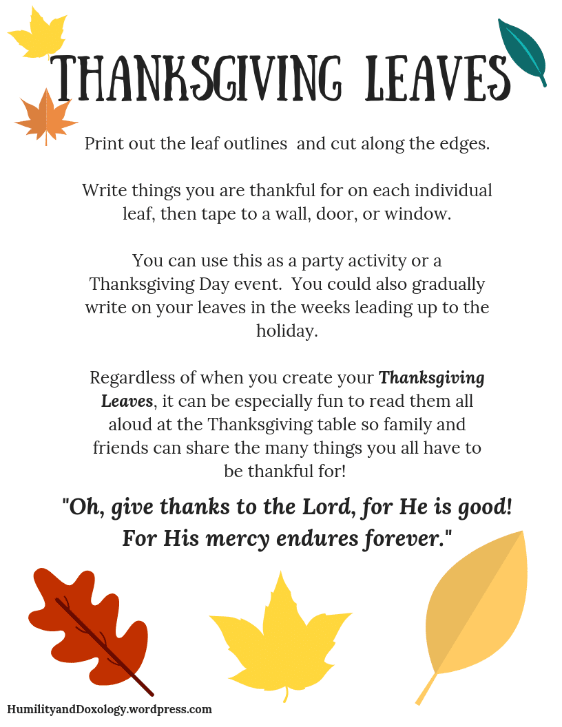 Thankfulness Craft