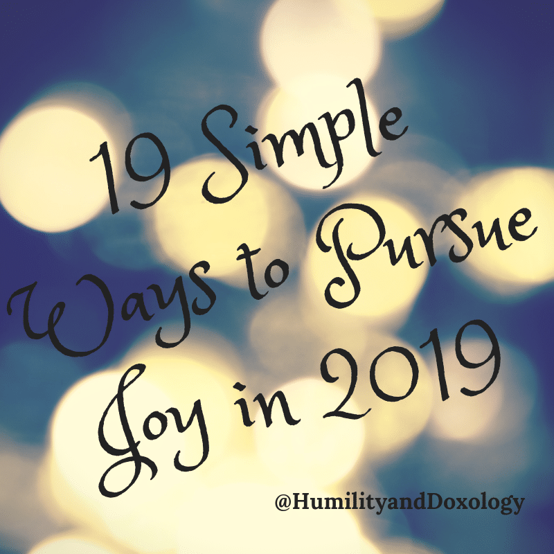 Simple New Years Goals Humility and Doxology