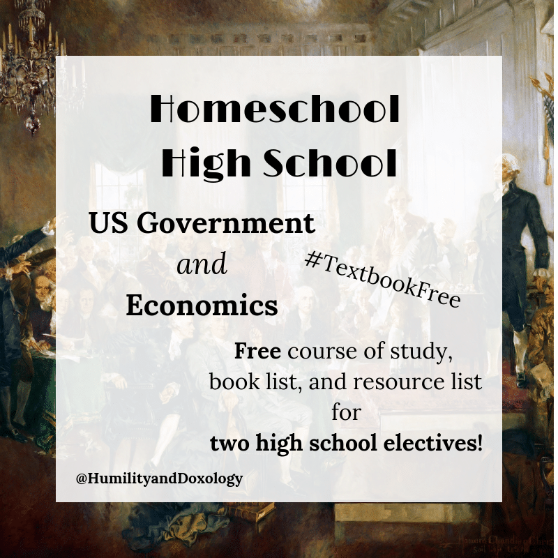 Homeschool HIgh School US Government and Economics Free Curriculum Plan