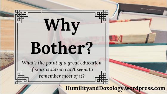 Homeschool Education What is the Point