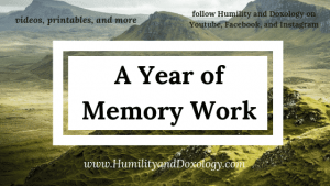 Year of Memory Work; Morning Time Resources