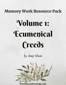 Memory Work Ecumenical Creeds