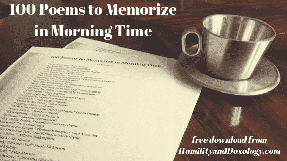 100 best poems for memory work