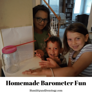homemade barometer for homeschool weather science studies