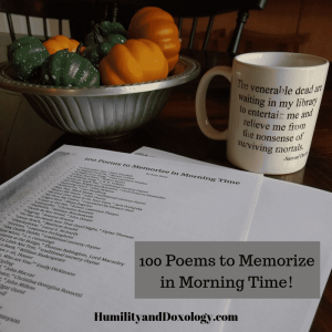 Poems to memorize in your morning time