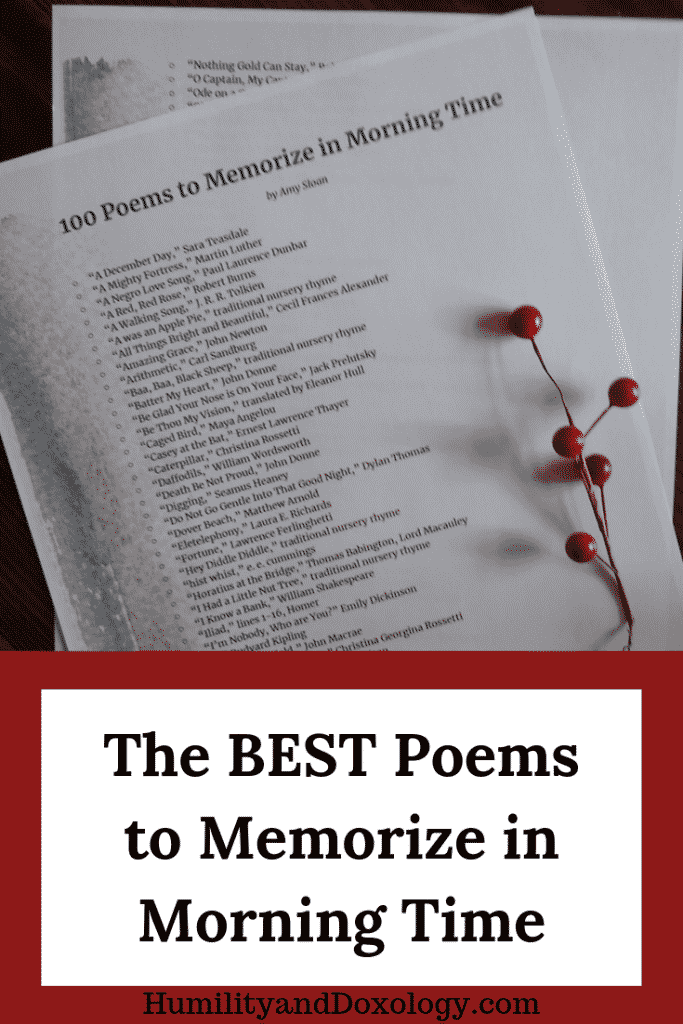 best poems to memorize in morning time