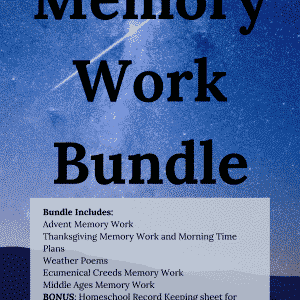 Homeschool Memory Work and Morning Time Resource Pack Bundle