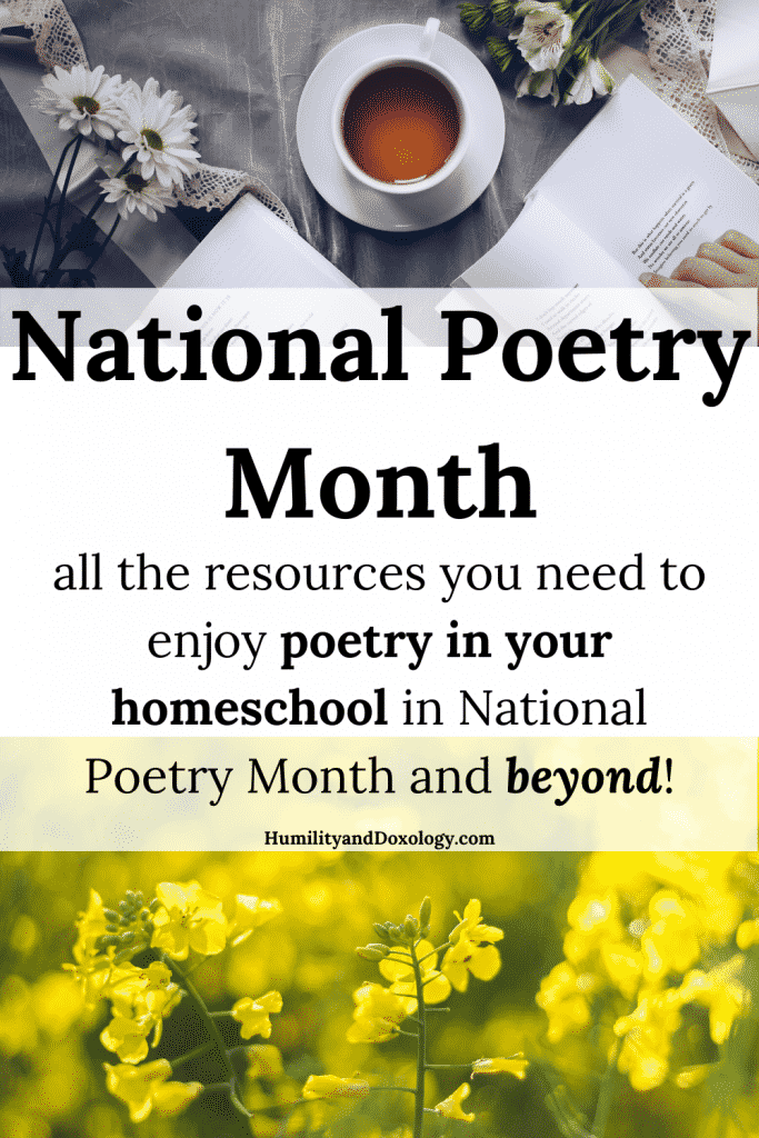 National Poetry Month Homeschool