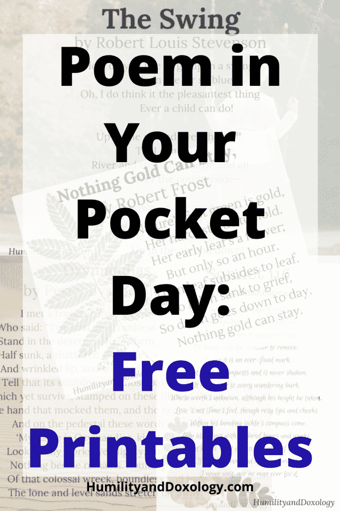 Poem in Your Pocket Day: Free Printables