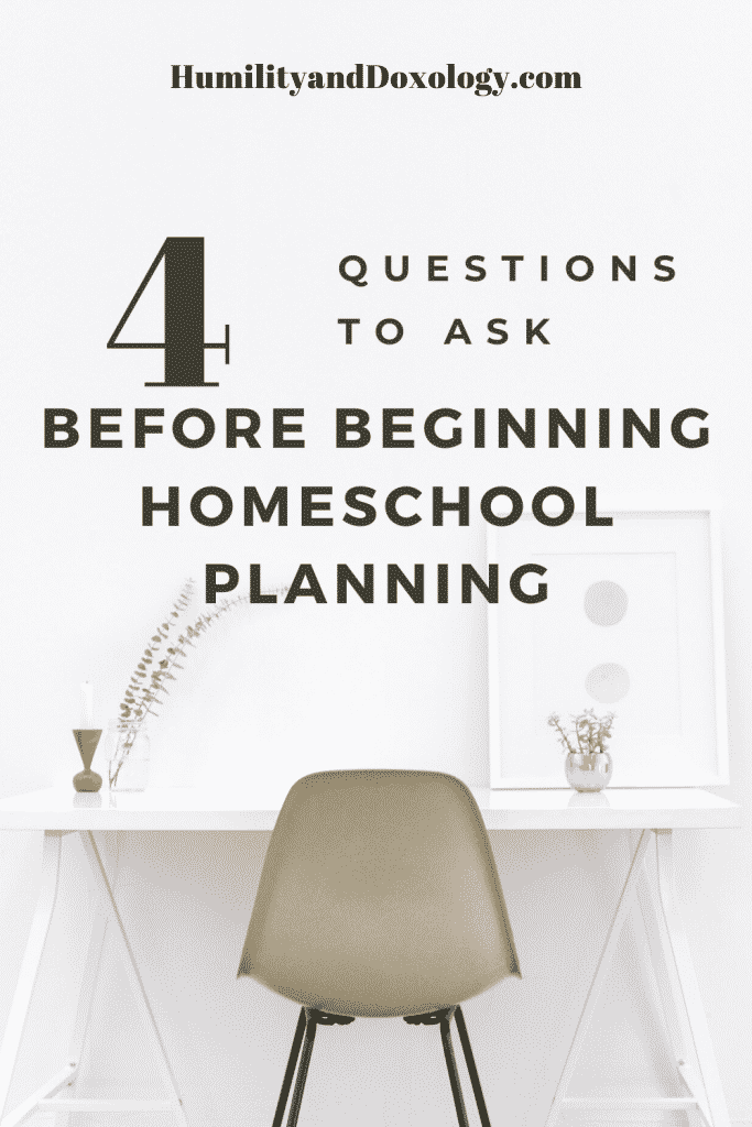 Planning Curriculum for Homeschool