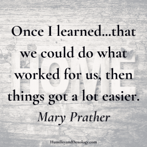Mary Prather homeschool interview