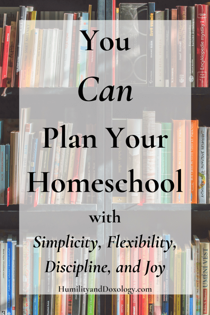 Easy Homeschool Plan