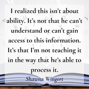 Shawna Wingert interview Homeschooling Special Needs