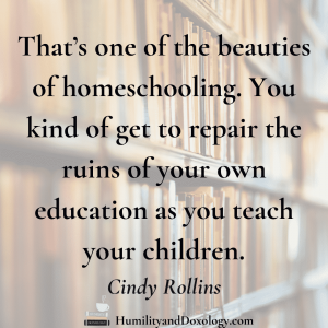 Cindy Rollins interview repairing the ruins of our education homeschooling