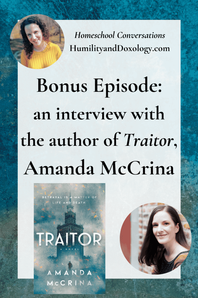 Amanda McCrina interview, author of YA WW2 novel Traitor