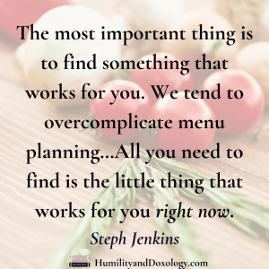 Steph Jenkins interview menu planning healthy eating on a budget