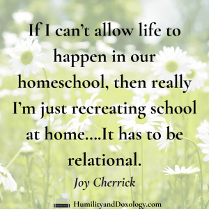 Joy Cherrick Nature Study Hacking homeschool interview