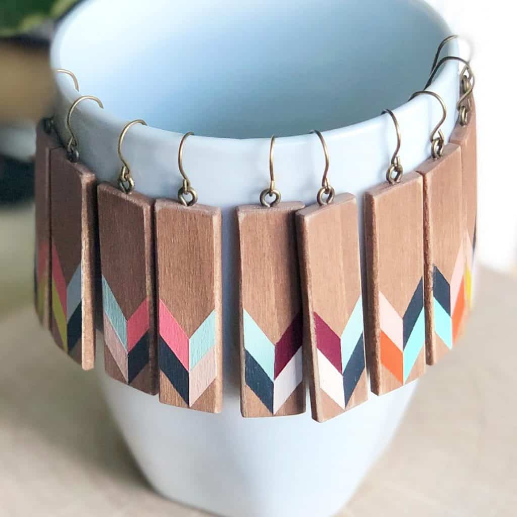 unique gift ideas for mom hand painted earrings