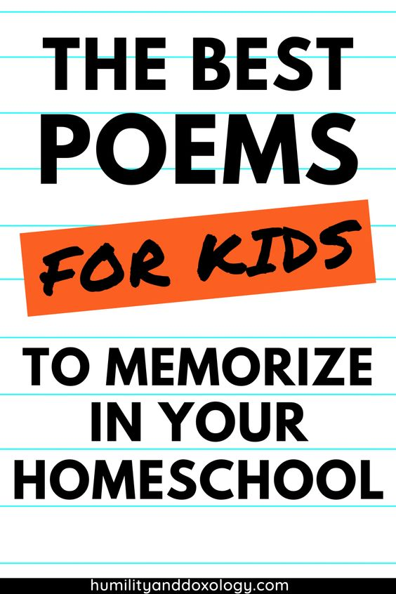 best poems for kids to memorize in your homeschool or during Morning Time