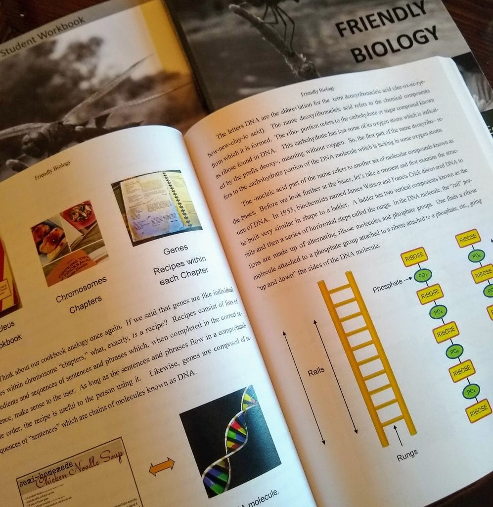 Friendly Sciences high school homeschool curriculum review Friendly Biology