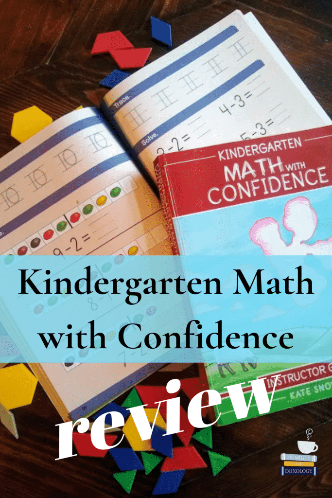 Kindergarten Math with Confidence by Kate Snow homeschool curriculum review