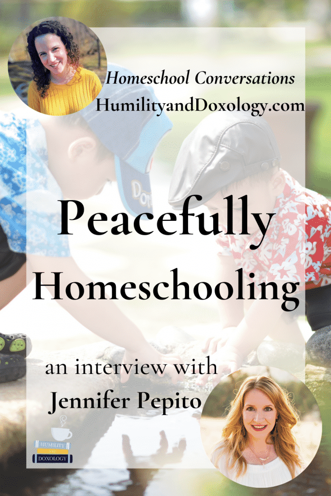 Jennifer Pepito Peacefully Homeschooling podcast interview Peaceful Press