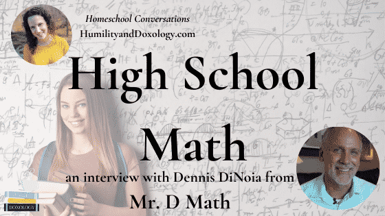 Mr. D Math Dennis DiNoia Homeschool High School online math courses