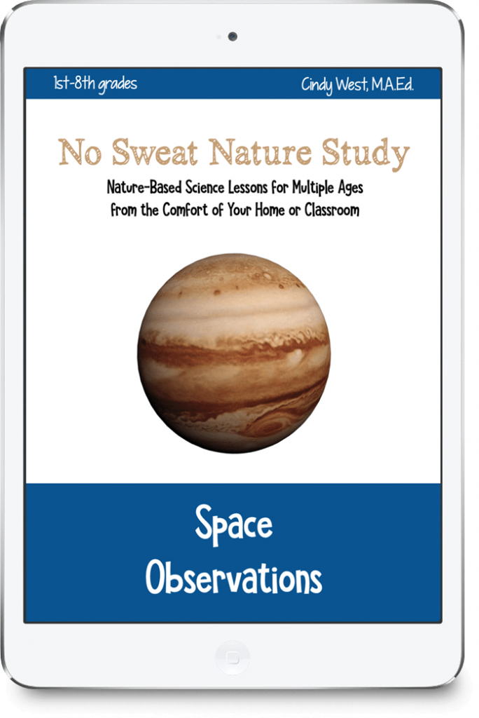no sweat nature study space observations homeschool science