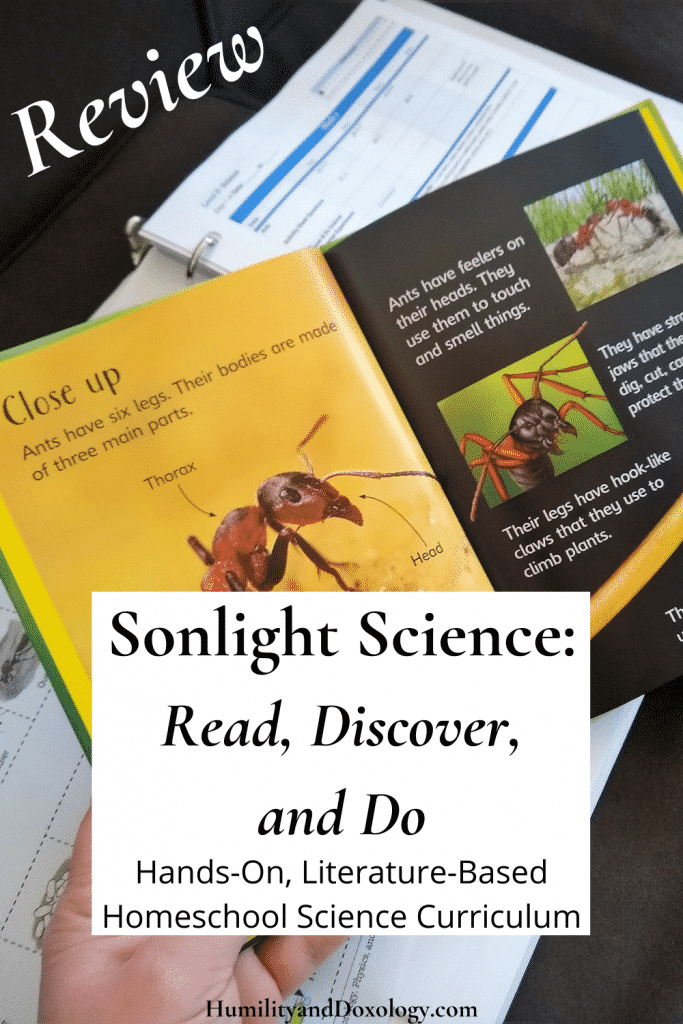 Sonlight Science K review Homeschool Curriculum Discover and Do Literature Based hands-on